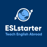 small ESL starter blue and white logo