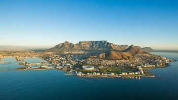 cape town bird s eye view from the sea side